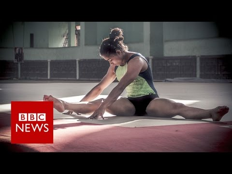 What drives this gymnast's death-defying leap for success? BBC News