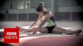 What drives this gymnast