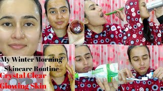My Winter Morning Skincare Routine | Crystal Clear Glowing Skin | DIYs| SWATI BHAMBRA