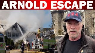 Hollywood actor Arnold escape from forest fire