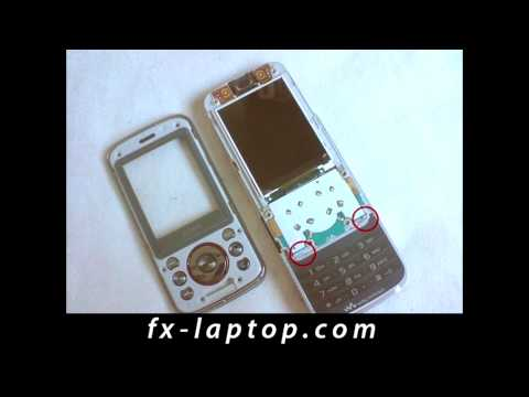 Disassembly Sony Ericsson W395 - Battery Glass Screen Replacement