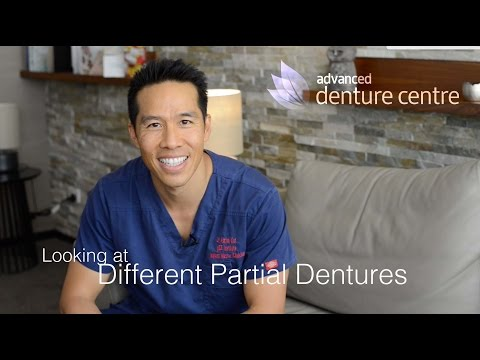 Different types of partial dentures & false teeth