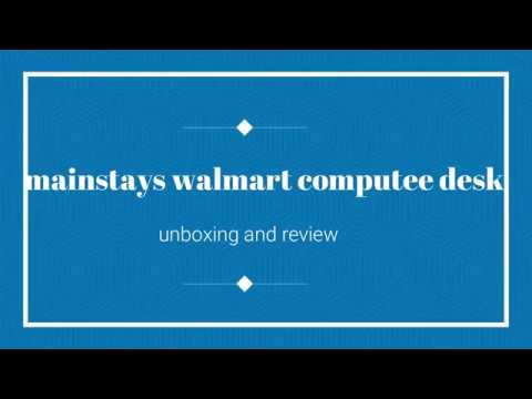 Mainstays Computer Desk |walmart |unboxing And Review