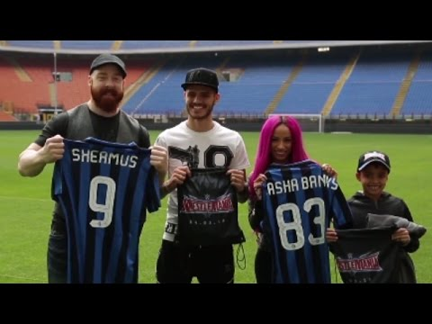 Sheamus visits San Siro football stadium in Milan, Italy
