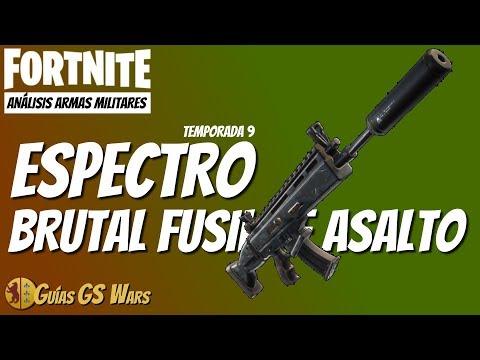 FORTNITE Guía ARMAS MILITARES: ESPECTRO
