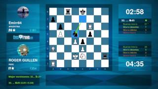 Chess Game Analysis: ROGER GUILLEN - Emirr84 : 1-0 (By ChessFriends.com)