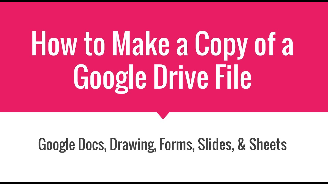 How to Make a Copy of a View Only Google Document - YouTube