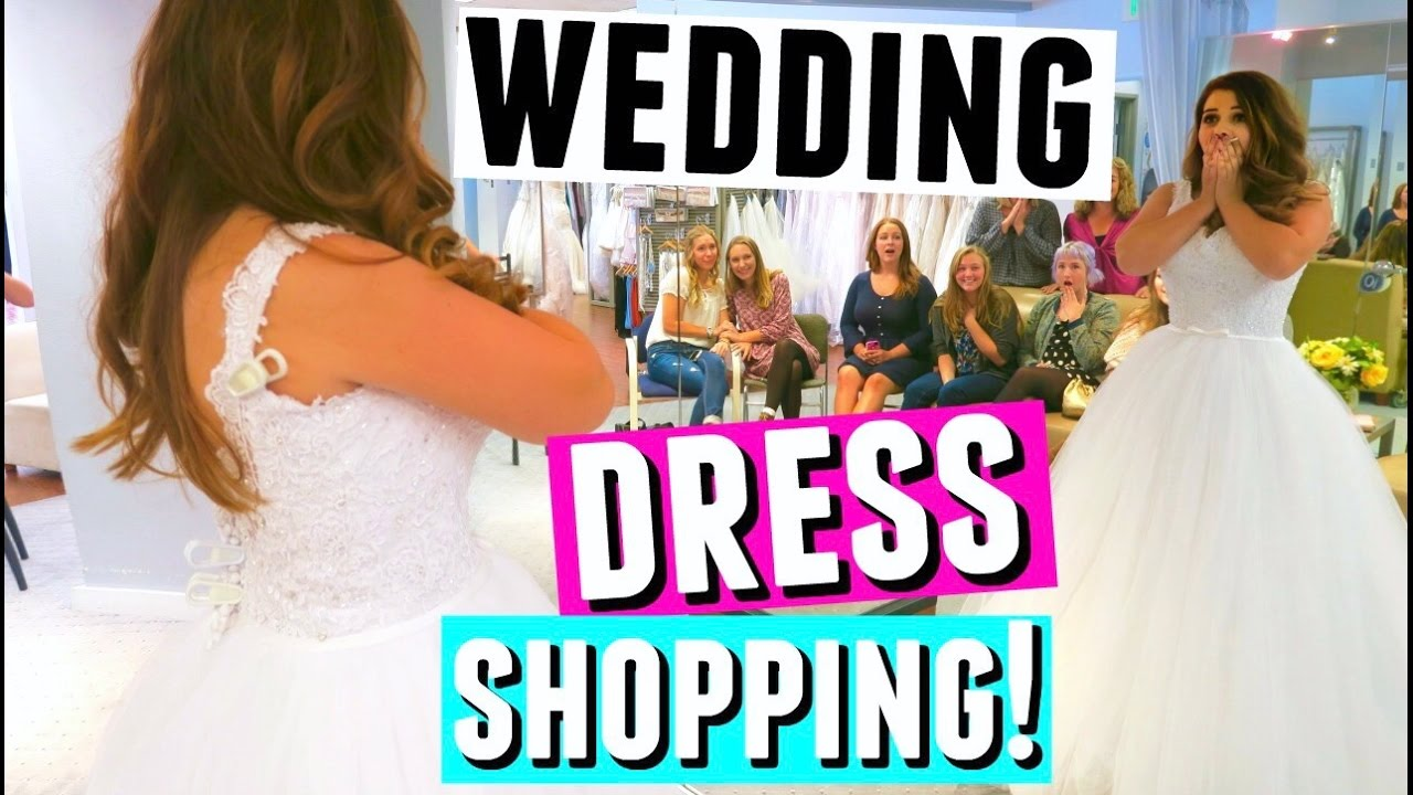 WEDDING DRESS SHOPPING VLOG! Bridal Gown Try On & Shopping For Bridesmaid Dresses!