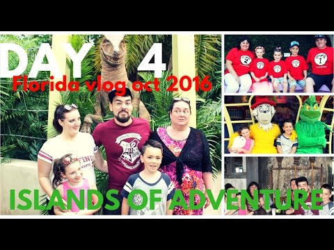 FLORIDA HOLIDAY VLOG 2016 | Day 4  Islands Of Adventure & Harry Potters Hogsmead