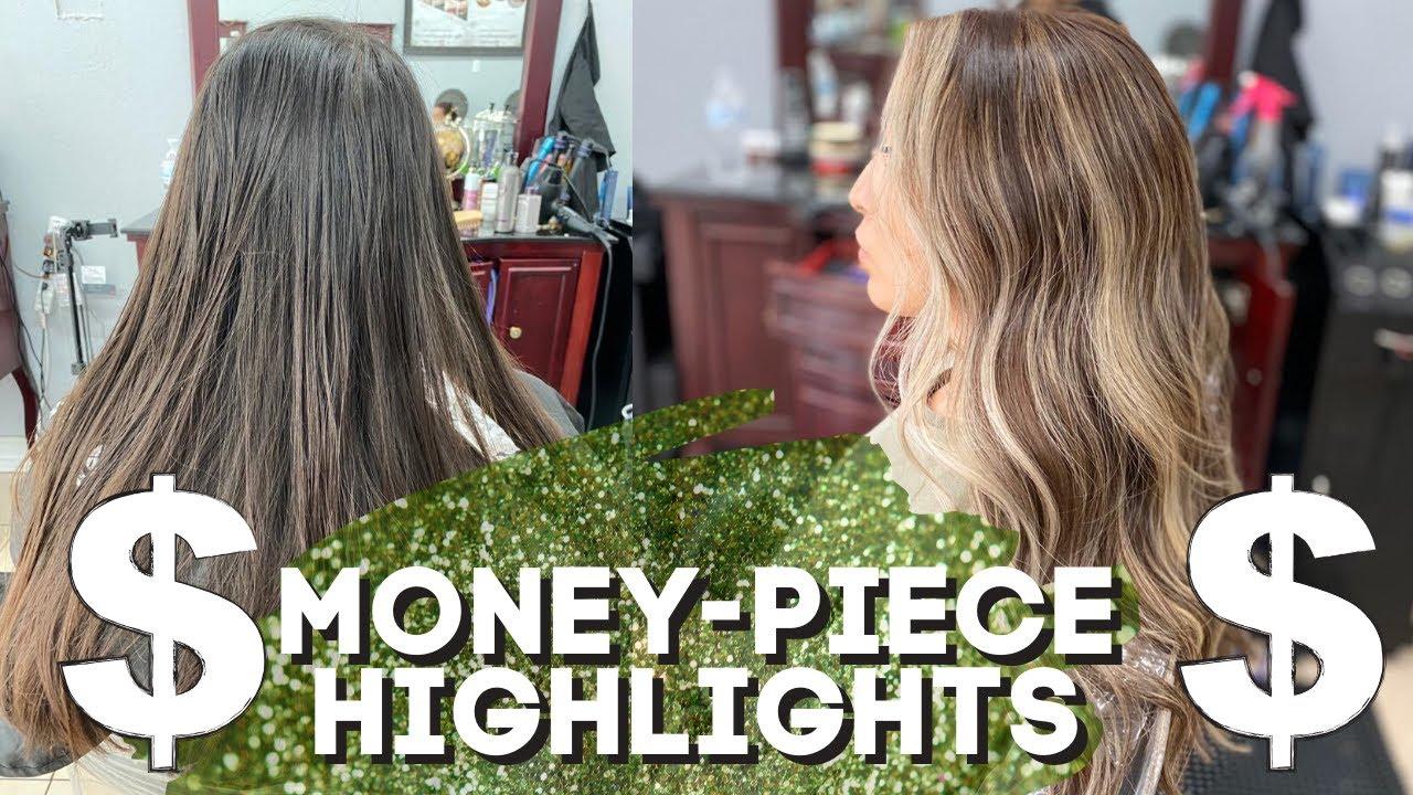 Khloe Kardashian Inspired Money Piece Balayage Hairstyle