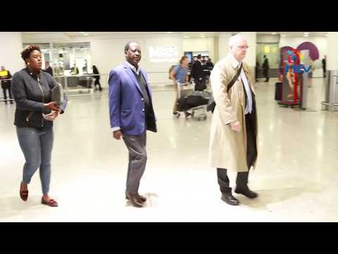 EXCLUSIVE: Raila Odinga arrives in the UK for democracy forum