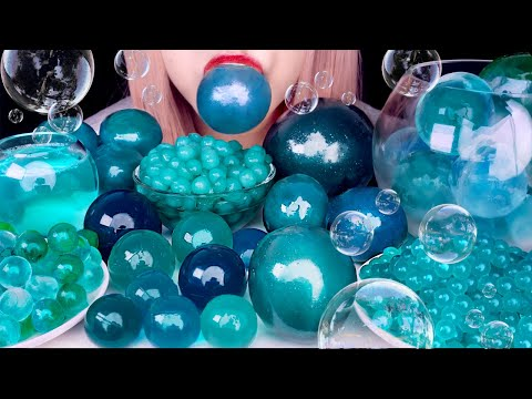 ASMR EDIBLE BUBBLES, CANDY, BOBA, JELLY, ICE, BUBBLE GUM   Eating Sounds 먹방