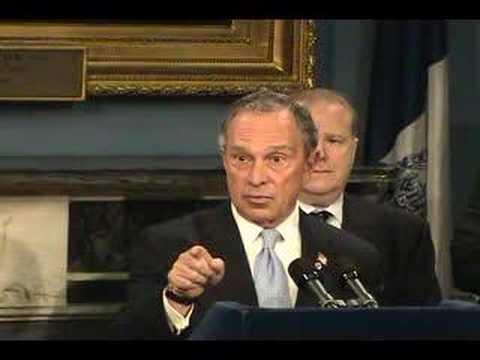 Michael Bloomberg vs Newsday Guy