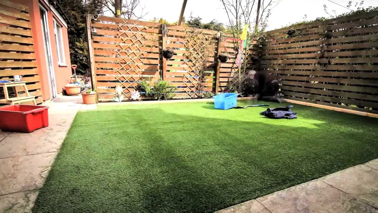 Diy How To Lay An Artificial Gr Lawn Turf Timelapse With Music Hd You