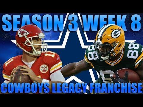 Week 8 Thriller! Madden 18 Cowboys Franchise | Legacy Season 3 Week 8!