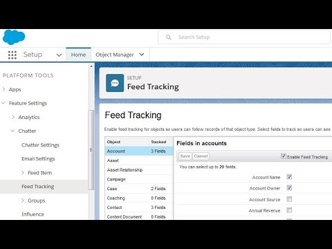 Salesforce Lightning: Feed Tracking in Chatter