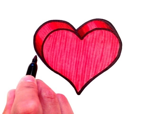How To Draw A 3D Heart