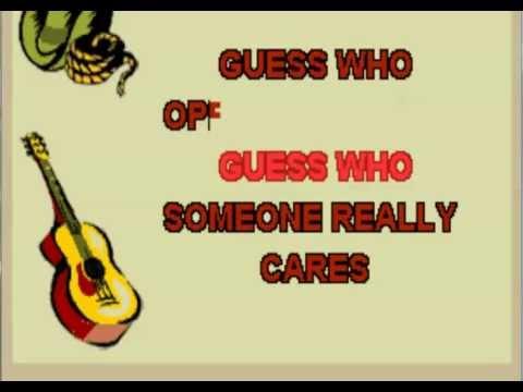 Guess Who Karaoke Version