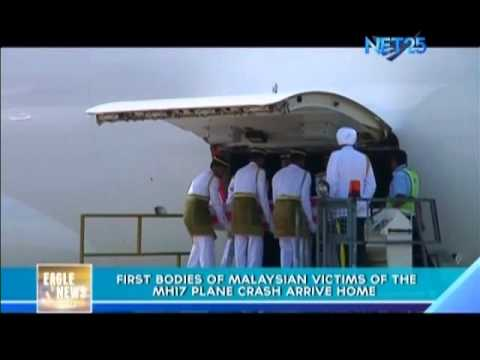 First Bodies of Malaysian Victims of MH17 Plane crash arrive home