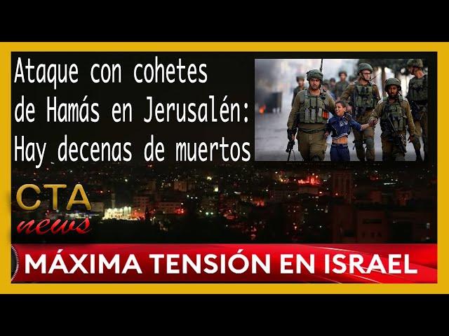 🚨 MAXIMA ALERTA EN ISRAEL 🇮🇱: Palestinos heridos en Jerusalén lanzamiento de cohetes de Hamás