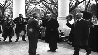 Prime Minister of United Kingdom Clement Attlee arrives in Washington D.C. HD Stock Footage
