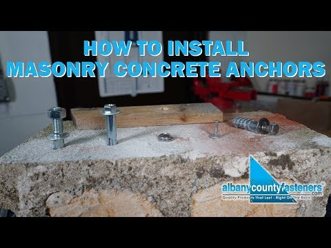 How To Install Masonry & Concrete Anchors | Fasteners 101