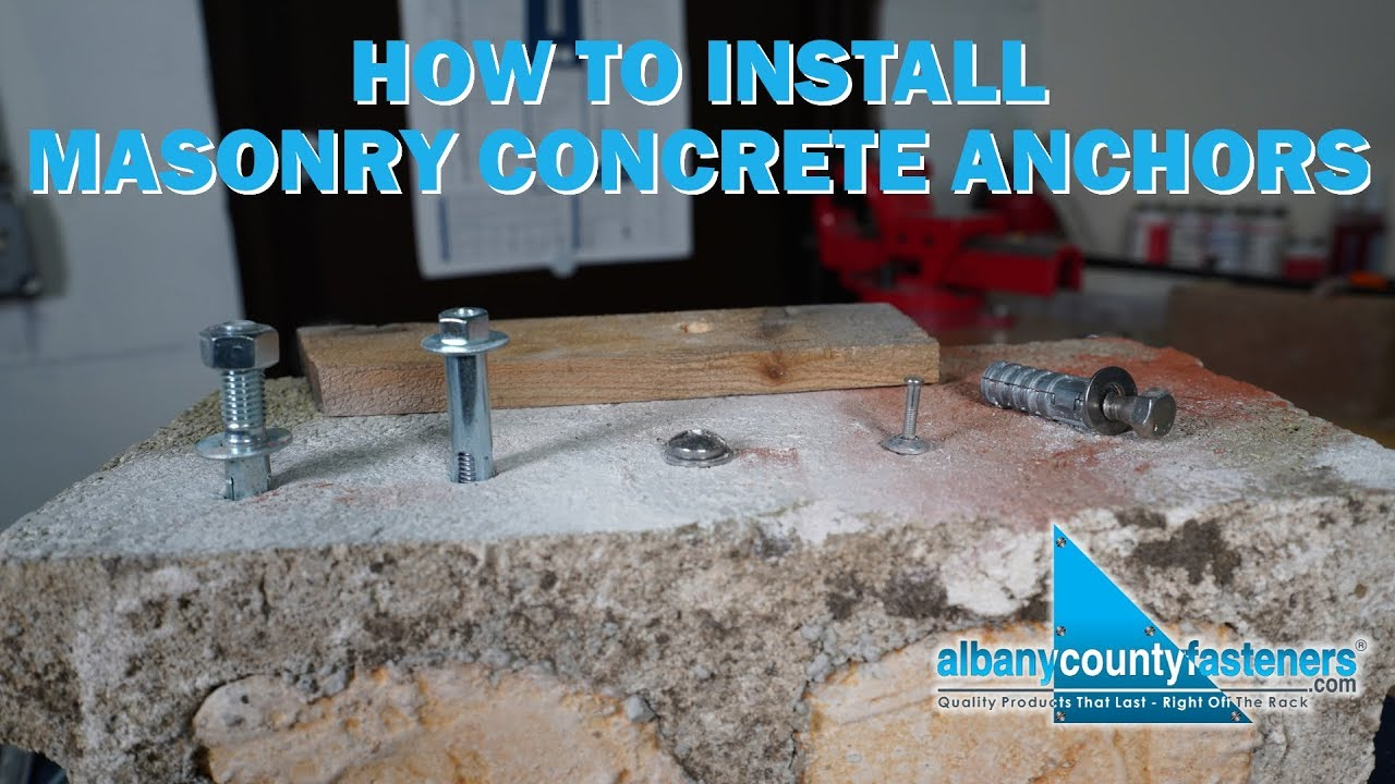 How To Install Masonry Concrete Anchors Fasteners 101 Youtube