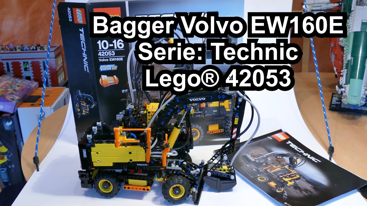lego volvo ew160e mobilbagger set 42053 technic review. Black Bedroom Furniture Sets. Home Design Ideas