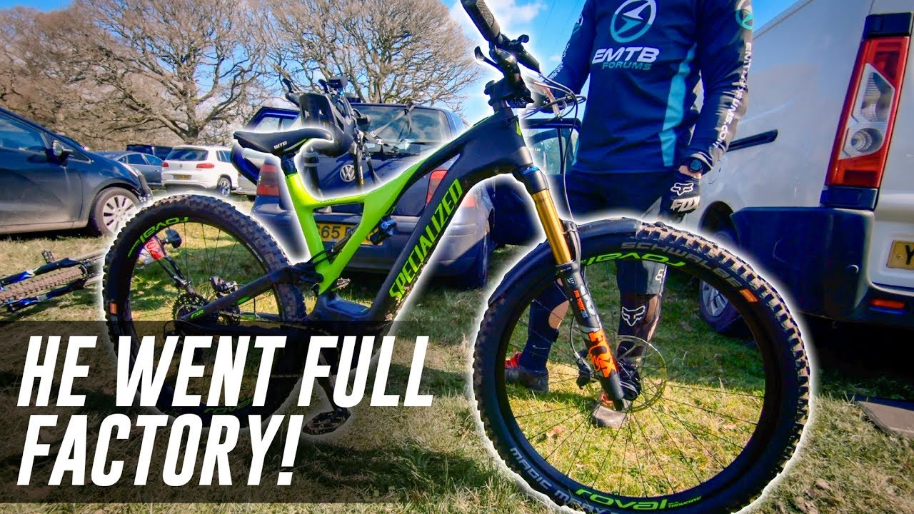 He went FOX FACTORY on his NEW 2019 Specialized Levo!