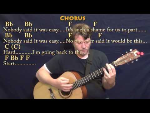 The Scientist (Coldplay) Guitar Lesson Chord Chart in Dm with Chords/Lyrics