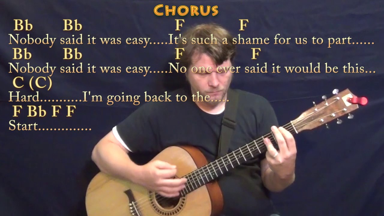 The Scientist Coldplay Guitar Lesson Chord Chart In Dm With Chords
