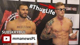 """Łukasz Szczerek w stylu Thug Life przed GSW 9: """"To jest zabawa. Nie walczymy na śmierć i życie."""""""