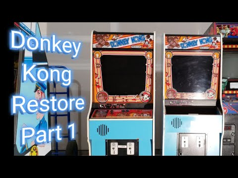 Donkey Kong Arcade Restore Part 1 - Control Panel, Joystick, And Buttons