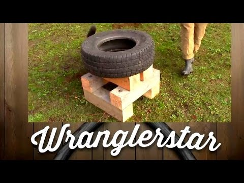 Splitting Wood With A Tire (Improved Design) | Wranglerstar