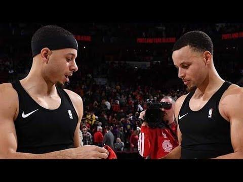 2145b084f8f Seth curry and Stephen curry Exchange Jersey   Warriors vs Portland trail  blazers 2018-19 NBA season – stephcurryscenes.com