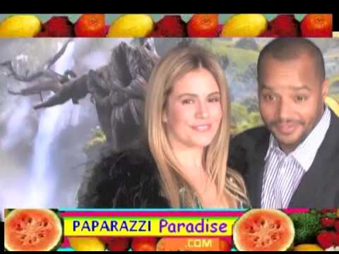 DONALD FAISON Rubs The Belly Of Wife CACEE COBB At Oz Premiere