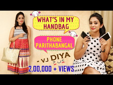 What's Inside My Handbag & What's In My Phone with Sun Tv Vj Diya