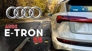 Audi E-tron - на что способны премиальные электроны? Разгон 0 - 100