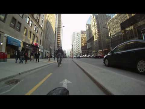 Downtown Montreal & McGill University on a bike