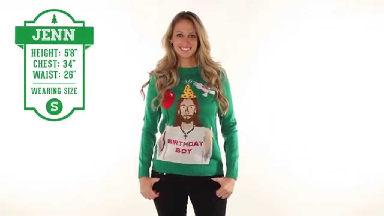 Ugly Christmas Sweater - Happy Birthday Jesus Sweater by Tipsy Elves ...
