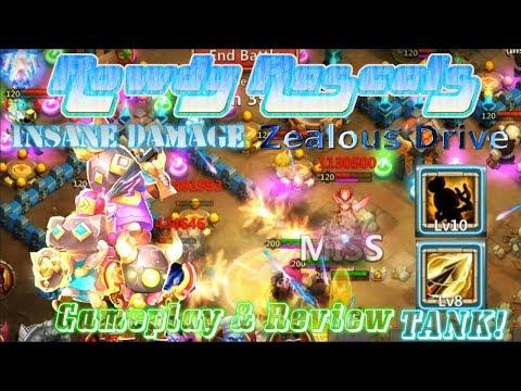 Zealous Drive Maxed Rowdy Rascals Gameplay INSANE DAMAGE - Castle Clash