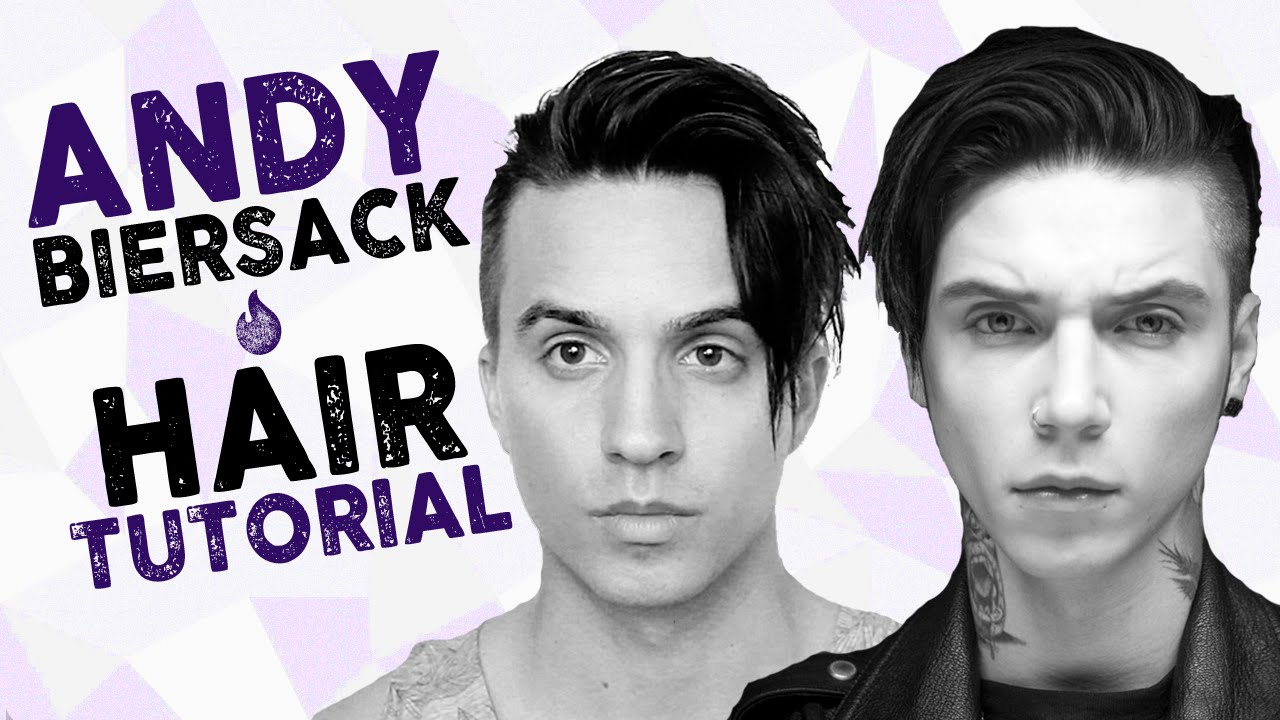 andy biersack hairstyle tutorial men s hair with dre drexler youtube