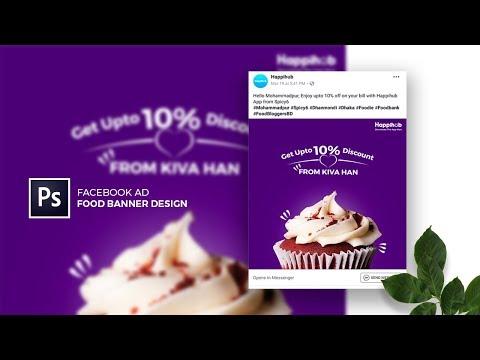 Facebook Ad - Food Banner Design in Adobe Photoshop CC