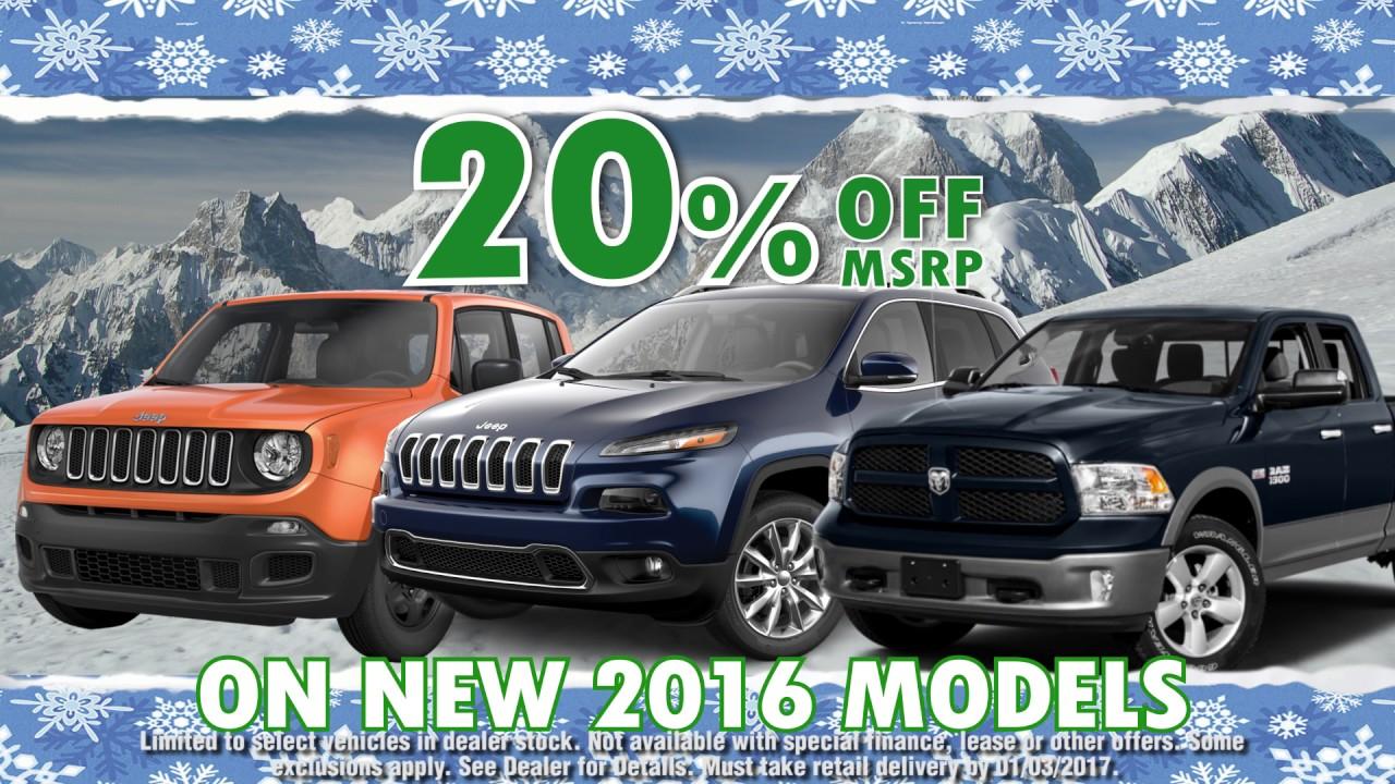 Gurnee Chrysler Jeep Dodge RAM December Big Finish Sales!