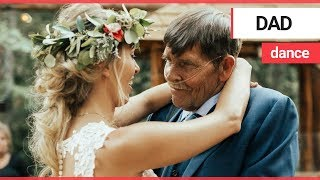 Bride dances with terminally ill father at wedding | SWNS TV
