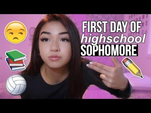 FIRST DAY OF SOPHOMORE YEAR VLOG/GRWM + Volleyball | Mai Phammy