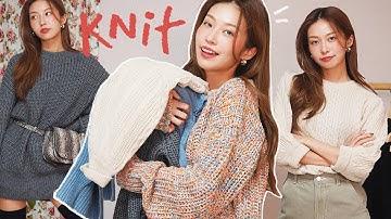[ENG] 포근한 겨울 니트 패션하울 & 코디 팁 🧶 터틀넥, 니트원피스, 최애 제품들