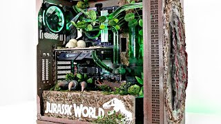 EPIC! JURASSIC WORLD GAMING PC - Water Cooled Time Lapse Build