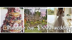 VENUE•CAKE•DRESS-Planning our $3000 wedding+TIPS|DIY budget bride series