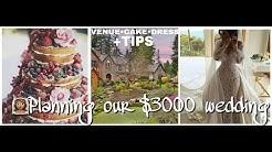 VENUE•CAKE•DRESS-Planning our $3000 wedding+TIPS|DIY budget bride series